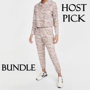 NWT Onzie crop hoodie & sweatpants bundle set, M/L